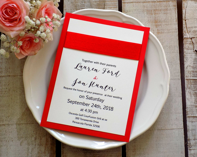 Nice Florida Wedding Invitations Image - Invitations and ...