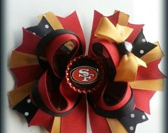 San Fransico 49ers hairbow