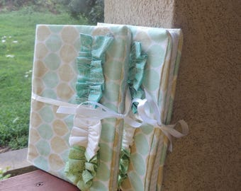 Ruffled fabric composition notebook cover