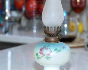 Vintage Rose Hurricane Lamp