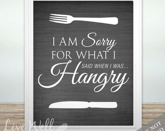 Hangry Print   Hangry Art   Kitchen Print   Kitchen Art   Dining Room Print