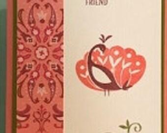 Pretty Peacok Greeting Card