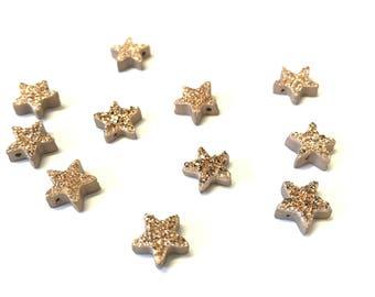 Rosegold star druzy pendant