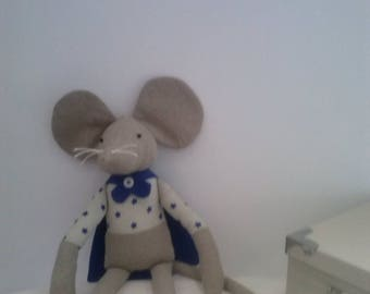 Mouse stuffed mouse in cotton