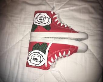White flower Shoe