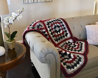 Winter Granny Square Afghan