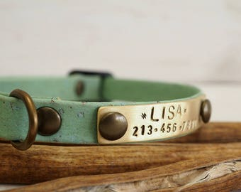 Cat Collar, Dog Collar, Cork Webbing Collar,  Breakaway Collar, Cat Collar Breakaway, Vegan Gift, Adjustable Collar, Personalized Collar,