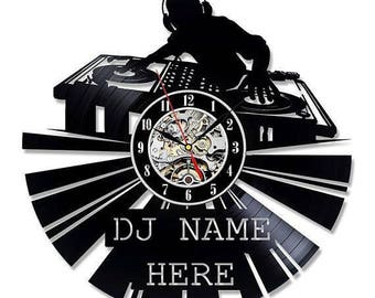 Best Gift For Dj Vinyl Record Wall Clock