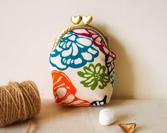 Coin purse, flower, women wallet, kiss lock purse, girlfriend gift,portamonete, gorgeous