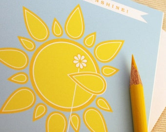 Thank You Card - Thank You Sunshine by Oh Geez Design