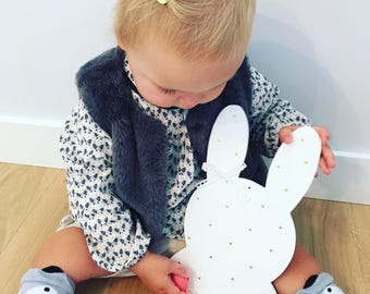 Bunny personalized wooden coat rack