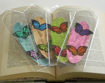 Watercolor Butterfly Bookmarks, Handmade Bookmarks