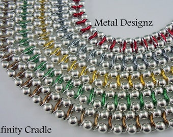 Infinity Cradle Chainmail Bracelet Kit - Makes 10 inches of chain