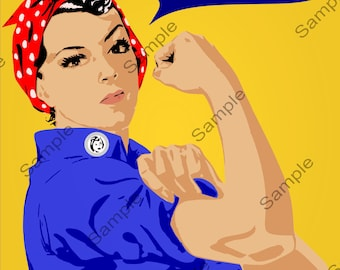 WC02 Vintage Style We Can Do It! War Poster Print