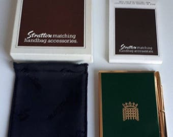 Vintage Stratton House of Commons Portcullis Notebook & Pen Boxed