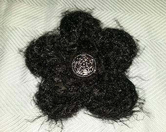Fuzzy Black Flower