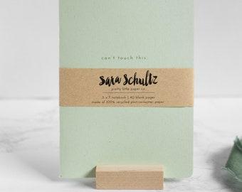 100% Recycled Notebook, Journal, minimalist, monochromatic