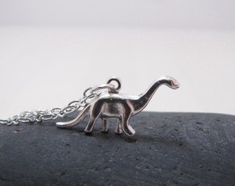 Dinosaur Necklace Brontosaurus Jewelry RAWR