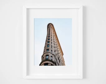 Flatiron Building - Manhattan photo print - New York City photography - Fifth Avenue NYC photos - Neutral pastel wall decor 8x12 12x18