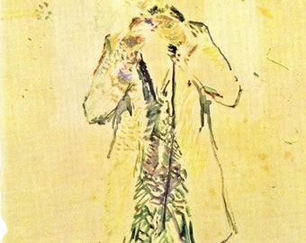 Toulouse-Lautrec - Man Lighting a Cigar to Frame or to use in Paper Arts, Collage, Scrapbooking, Mixed Media and MORE PSS 2038