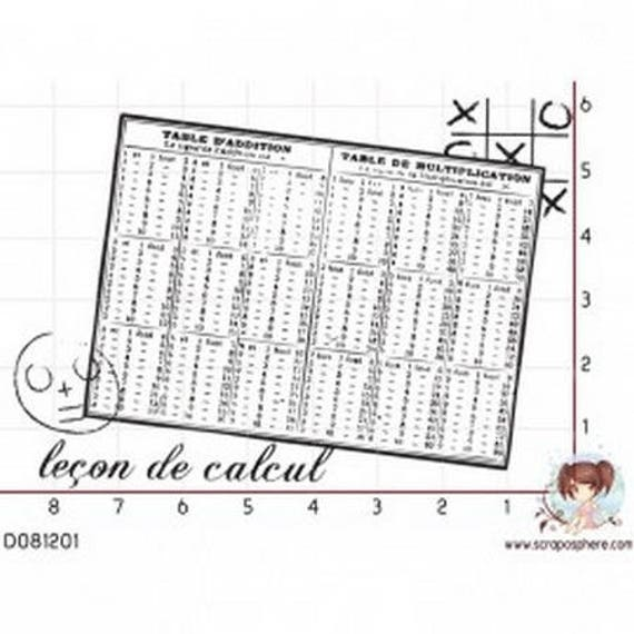 Multiplication rubber table SCR134 stamp
