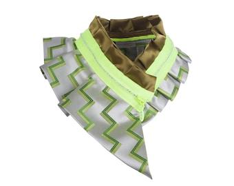Collar necklace, unique accessory, zipper collar, silk collar, only one piece #175