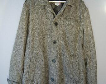 Second hand jacket coat XXL Tweed winter jacket grey