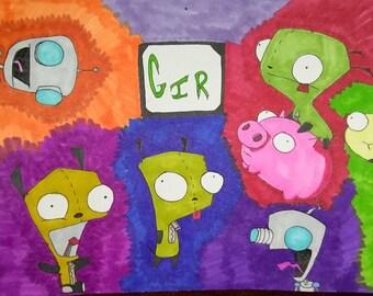 Invader Zim/ Gir