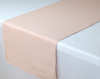 Blush Table Runner 14 X 108 inches, Blush Wedding Table Runners | Blush Weddings, Table Decorations, Wedding Table Decor