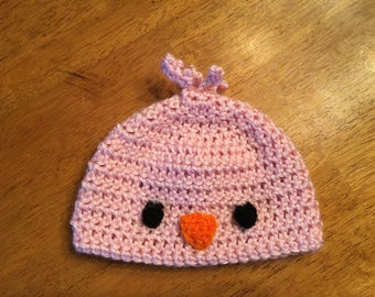 Baby Crocheted Chick Hat