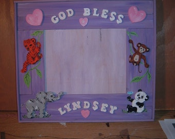 Baby picture frame custom order
