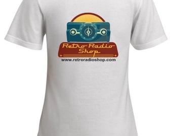 Retro Radio Shop Womens T-Shirt