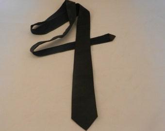 A Navy Blue Leather Skinny Tie, Teddy Boy Style