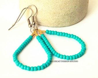Boho Earrings | Bohemian Earrings | Boho Turquoise Teardrop Earrings