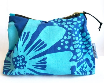 Zippered Pouch, Cosmetic Bag, Bloom, Make-Up Bag, Catch-all, Pouch, Small Bag