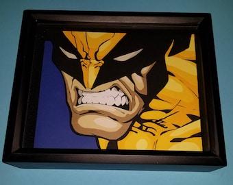 Poptic! Hand-cut layered paper craft Wolverine