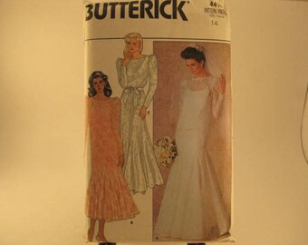 Butterick Sewing Patern 4414 sz 14 Misses' Dress, Slip & Veil [L16]