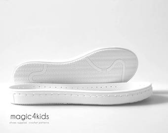 Pre-perforated rubber soles with insoles for shoes - soles for handmade shoes, women sizes, soles for crochet / felted shoes,2mm holes punch