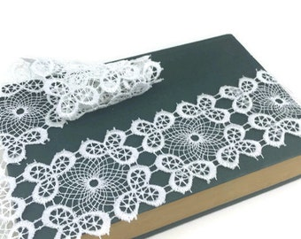 White Guipure Polyester Lace Trim