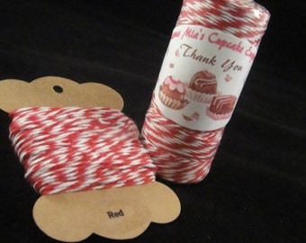 Red Bakers Twine - 8 ply, 100% cotton Bakers Twine