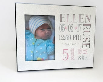 Baby Girl Personalized Picture Frame, Baby Girl Gift, Personalized Photo Frame, Baby Picture Frame