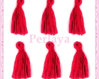 Set of 20 Red 3cm tassels REF2494