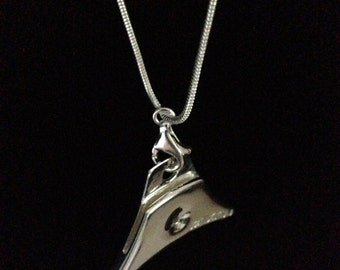 Solid silver STERLING shepherds whistle with silver chain