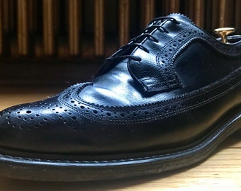 Executive Imperial by Mason Black Country Calf Wingtip Dress Shoes 10.5D