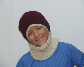 Tuque and neck warmer for boy set