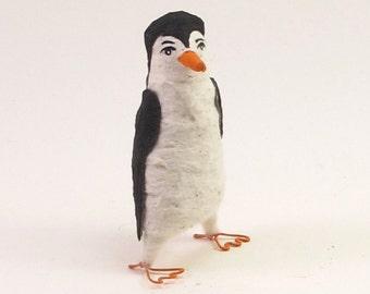 READY TO SHIP Spun Cotton Vintage Style Penguin Figure