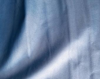 """Genuine Leather - 8"""" X 10""""  Subtle Metallic Sky Blue Leather-hide"""