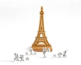Wooden decoration: Eiffel Tower