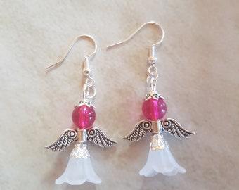 White Angel earring