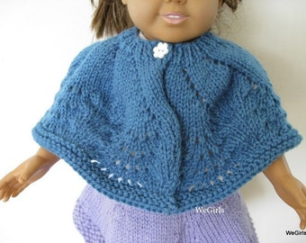 American Girl Doll Knit Pattern Pinwheel Lace Shawl easy instant download now available